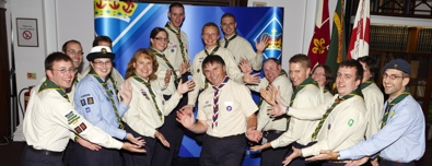 The QSWP at the Queen's Scout Reception